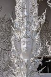 Divinity sculpture in White Temple in Chiang Rai, Thailand Stock Photos