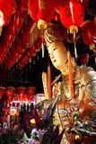 Divinity in Taichung between lanterns and flowers stock photography