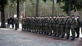 Divisão blindada do preto polonês dos soldados Imagens de Stock Royalty Free