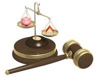 Divisão da propriedade no divórcio Fotografia de Stock