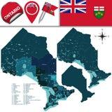 Divisões de Ontário, Canadá Imagem de Stock