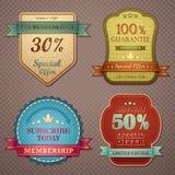 Divisa de la calidad de la vendimia ilustración del vector