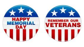 Divisa del Memorial Day Foto de archivo libre de regalías