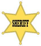 Divisa del sheriff stock de ilustración