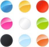 Divisas multicoloras de la estrella stock de ilustración
