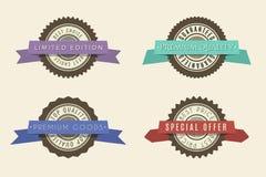 Divisas retras de la vendimia fijadas Elementos clásicos del diseño con las cintas libre illustration