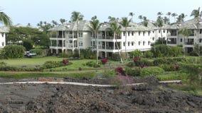 Divisent le temps les bâtiments Hawaï banque de vidéos