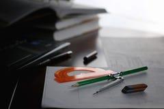Diviseur de crayon de Tableau Photographie stock libre de droits