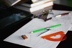 Diviseur de crayon de Tableau Images stock