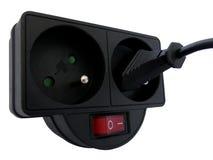 Diviseur de puissance de débouché avec la prise insérée Image stock