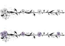 Diviseurs avec des fleurs d'alto Image libre de droits
