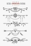 Diviseurs de page de plume de flèche illustration stock
