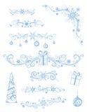 Diviseurs et décorations de page de Noël sur le fond blanc illustration libre de droits