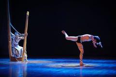 Divisez la chaîne-course en danse-chorégraphe labyrinthe-moderne Martha Graham Image libre de droits