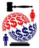 División de activos maritales Foto de archivo libre de regalías