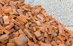 Division of brick and rock Stock Photos