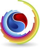 Division circle logo Royalty Free Stock Photography