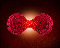 Division de cellule cancéreuse Images stock