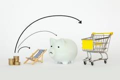 Division de l'argent de revenu Photo stock