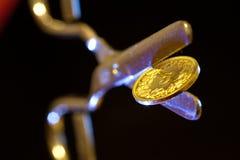 Division de pièce de monnaie du Suisse 5 Images stock