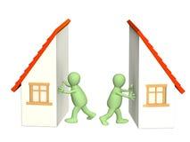 Division de propriété au divorce illustration de vecteur