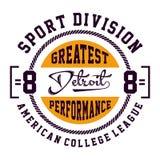 Division Detroit de sport de conception Photos stock