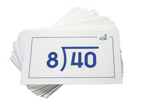 Free Division Flash Cards Stock Image - 42231