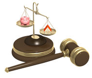 Division of property at divorce Stock Photography
