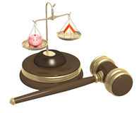 Division of property at divorce Vector Illustration