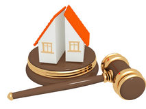 Division of property at divorce Royalty Free Stock Photo
