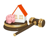 Division of property at divorce Royalty Free Stock Image