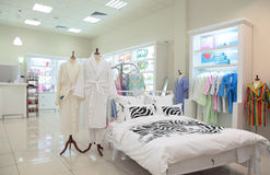 Division of sleeping equipment in  store Stock Photography