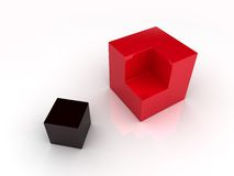 Division of two cubes Royalty Free Stock Photo