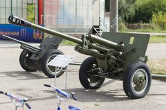 The divisional gun ZIS -3, 76.2 mm. It was released from 1942 in Gorky. stock image
