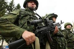 Divisione Aerotrasportata di esercitazioni di alberino di comando in Russia Immagine Stock Libera da Diritti