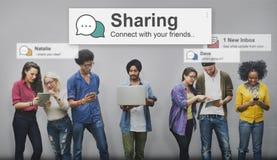 Divisione del concetto di comunicazione del collegamento della rete sociale della parte Immagine Stock