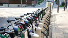 Divisione della bicicletta e sistema locativo Fotografia Stock Libera da Diritti