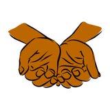 Divisione delle mani amorose preoccupantesi Immagine Stock
