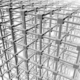 Divisione di spazio cubica Immagine Stock