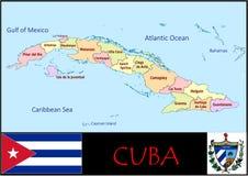 Divisions administratives du Cuba illustration de vecteur
