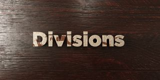 Divisions - grungy wooden headline on Maple  - 3D rendered royalty free stock image. This image can be used for an online website banner ad or a print postcard Royalty Free Stock Photo