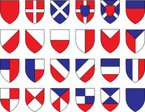 Divisions of the shield Royalty Free Stock Photography