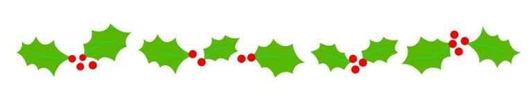 Divisor da beira do Natal ilustração stock