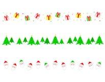 Divisor de la frontera de la Navidad stock de ilustración