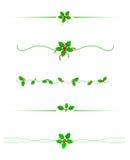 Divisor de la frontera de la Navidad Imágenes de archivo libres de regalías