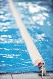 Divisor olímpico del carril de la piscina Fotos de archivo libres de regalías