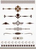 Divisores, beiras e decorações do texto Fotos de Stock Royalty Free