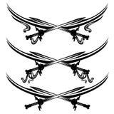 Divisores cruzados de la página del vector de las espadas Imagen de archivo libre de regalías