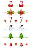Divisores de la Navidad fijados [1] Imagen de archivo