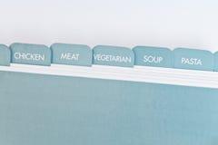 Divisores de la tarjeta de la receta Imagenes de archivo